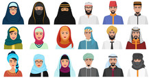 Islam Cartoon People Icons. Ar...