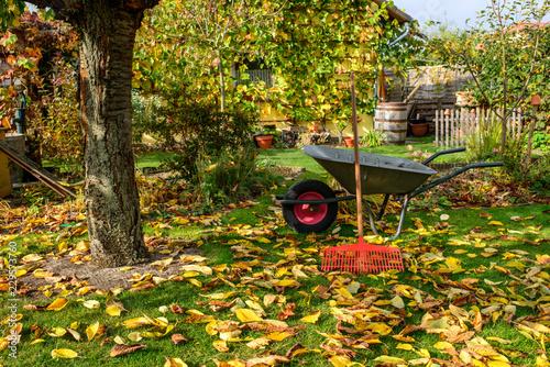Photo Herbst - Gartenarbeit