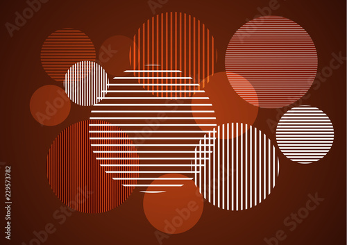 Recess Fitting Graphic Prints Abstract vertical, horizontal stripes in a circle - vector for print or design.