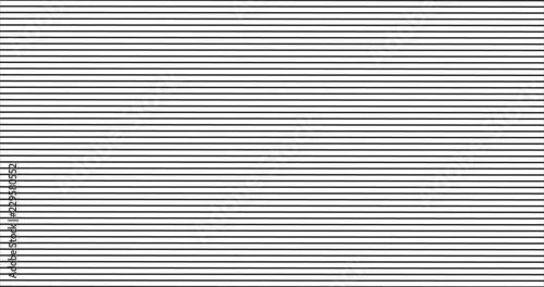 Fotografiet  black horizontal stripes pattern, seamless texture vector background