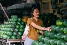 Beautiful Smiling Thai Woman P...