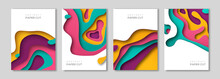 Vertical Banners Set With Pape...