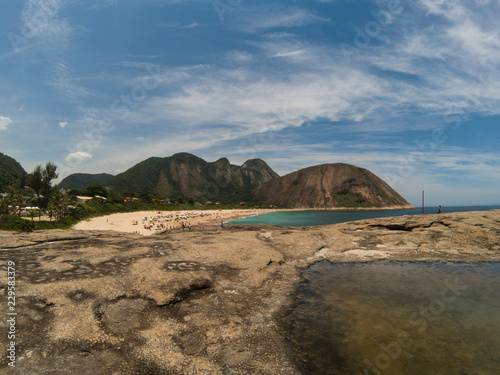Foto op Canvas Blauwe jeans Beach landscape