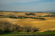 France, Occitanie, Lauragais, Haute Garonne, Plowed Fields At Spring