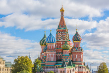 St. Basil's Cathedral On Red S...