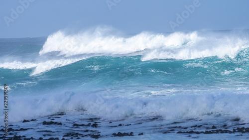 Stickers pour portes Eau Waves Atlantic
