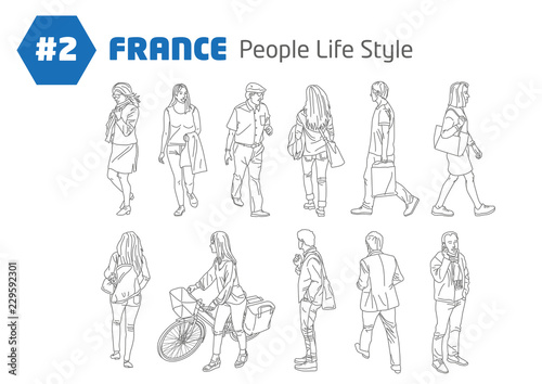 Leinwand Poster #2 - FRANCE - People Style Life