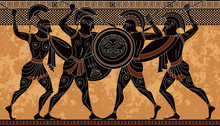 Ancient Greek Scene Banner.Her...