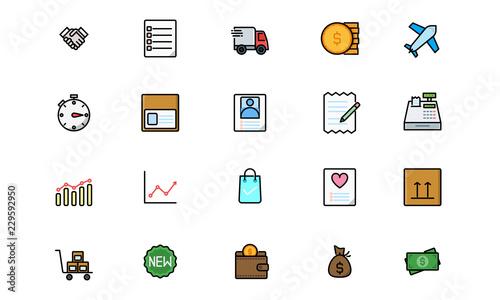 Shopping & E - Commerce - Filled Line (1)  Editable Stroke  64x64