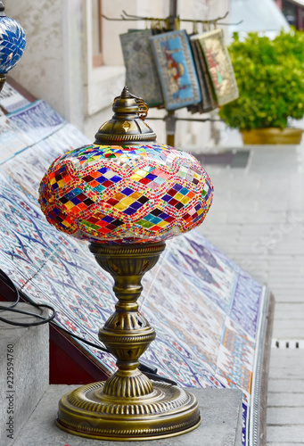 Turkish Traditional Colored Glass Craft Lanten Istanbul Buy This