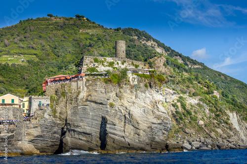Vernazza and the Doria Castle, Cinque Terre, Italy Tablou Canvas