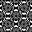 Geometric greek key meanders black and white vector seamless pat