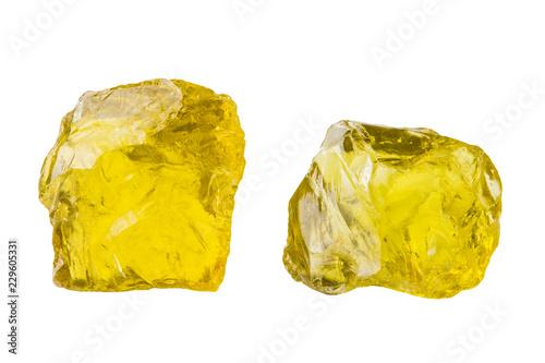Fotografie, Obraz  Semi-precious stones and minerals on a white background