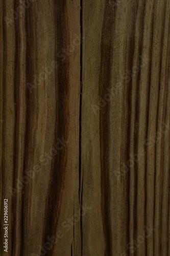 Fotografie, Obraz  Dark Tan and Brown Wood Grain Texture Detail Background Graphic
