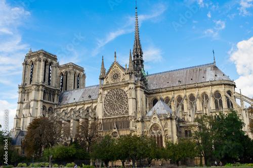 Papiers peints Con. ancienne Notre Dame cathedral church landmark at Paris, France