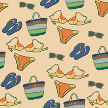 Seamless Pattern With Clothing And Accessories_2