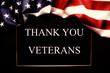 Veterans day remembrance concept. USA flag background. United States of America celebrates armed forces on november 11th. Close up, copy space, top view.