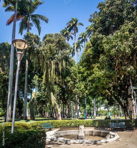 Catete Palace Garden, the former presidential palace now houses the Republic Museum - Rio de Janeiro, Brazil