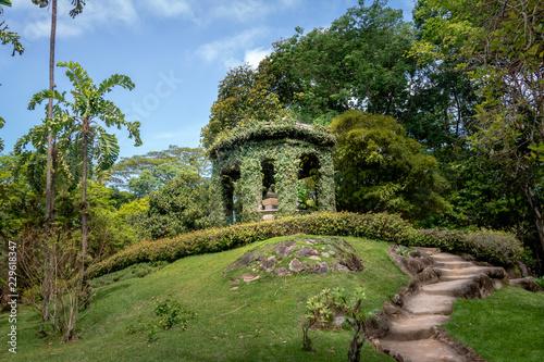 Friar Leandro do Sacramento Memorial in honor of the first director of Jardim Botanico Botanical Garden - Rio de Janeiro, Brazil