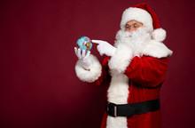 Santa Clause With Earth Globe ...