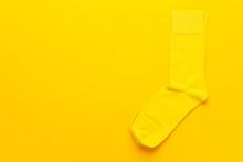 Pair Of Socks On Bright Yellow...