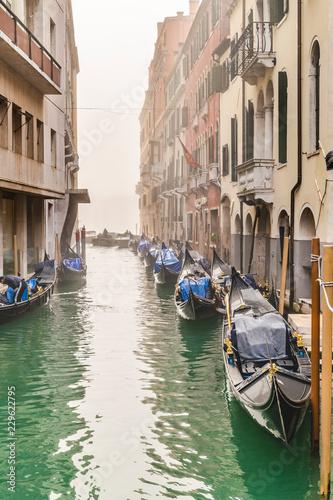 Foto op Plexiglas Venetie Small Channel Scene, Venice, Italy