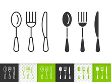 Cutlery Simple Kitchen Ware Bl...