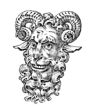 Faun Or Satyr In Ancient Mytho...