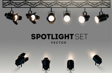 Spotlights Realistic Transpare...
