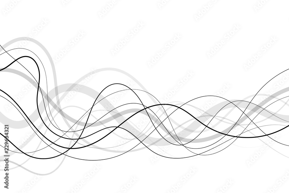 Abstract transparent and black lines background