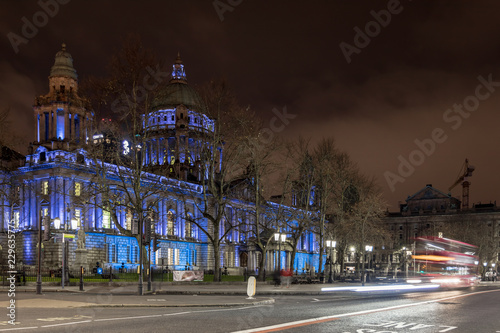 Belfast City hall in the night, UK Poster Mural XXL