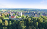 Aerial view on the Bad Bentheim castle.