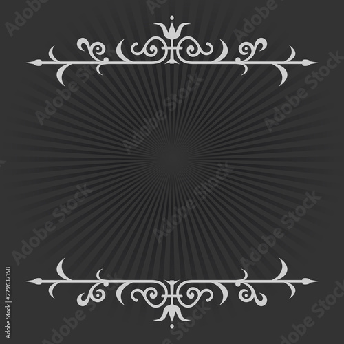 Fotografia  Vignette on a black and white retro background in silent film style