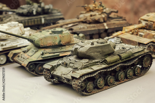 Valokuva  Model toy miniature Soviet Tanks
