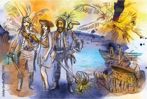 Fototapeta Pirates