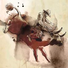Rodeo. An Hand Drawn Illustrat...