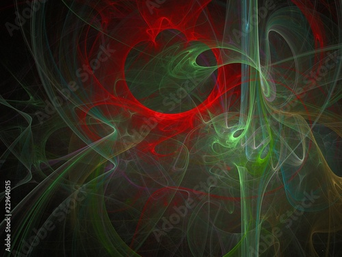 abstract digital fractal, creative design, futuristic