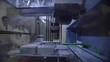 Slow motion automated pipetting system transfers of liquid between preselected groups of containers