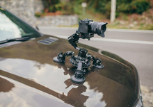 Camera Gimbal On The Car Stead...