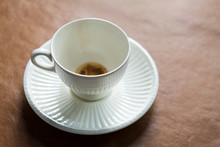 Empty Coffee Cup On Saucer
