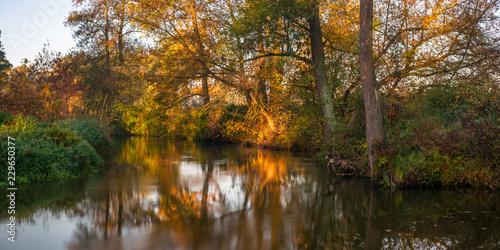 Riviere Rzeka Rawka, Jesienny świt nad rzeką