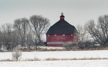 The Big Red Round Barn