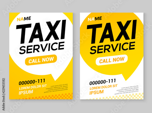 Canvas Taxi service layout template background