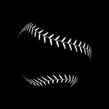 Baseball Lace Ball Illustratio...