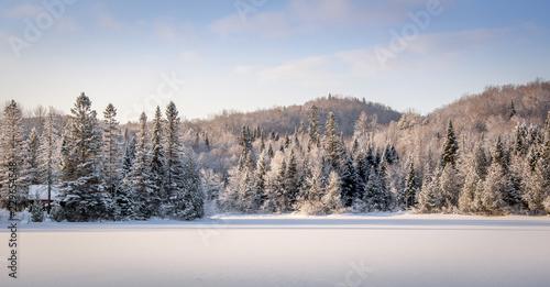 Naklejka premium Zima w Quebecu