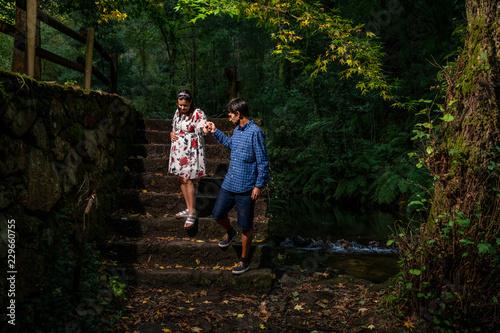 Young couple enjoying pregnancy