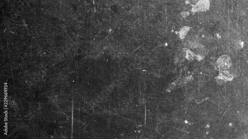 Foto Texture of black vintage material with scratches