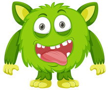 A Green Monster Character