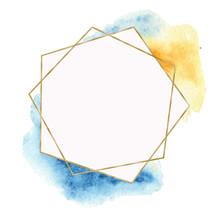 Geometric Golden Frame With Wa...