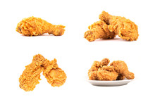 Set Of Fried Chicken Isolated ...